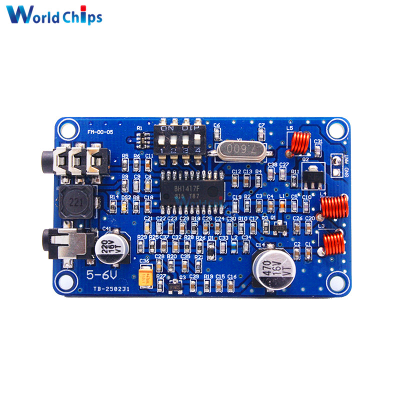 Bh1417 200m 0.5w Digital Radio Station Pll Wireless Two Channel Stereo Fm Transmitter Module 5-6v Dc Electronic Components & Supplies Hospitable High Stability Frequency