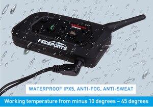 Image 5 - Fodsports 1 pcs V6 Pro 1200M intercomunicador BT Interphone Wireless Motorcycle Helmet Bluetooth Headset Intercom for 6 Rider