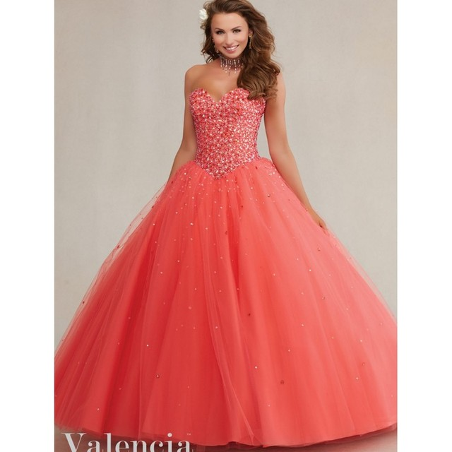 5d77c61e0aa Beautiful Orange Red Quinceanera Dresses Beading Sequin Sweetheart Lace Up  Party Dress Sweet 16 Pink Masquerade Debutante Gown