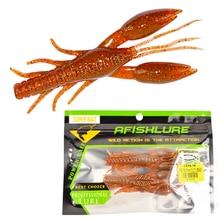 2pcs/lot 9cm 23g Large Gentle Worm Synthetic Lifelike Hammer Crab Clamp Shrimp Crankbait Leurre Souple For Ocean Lake River