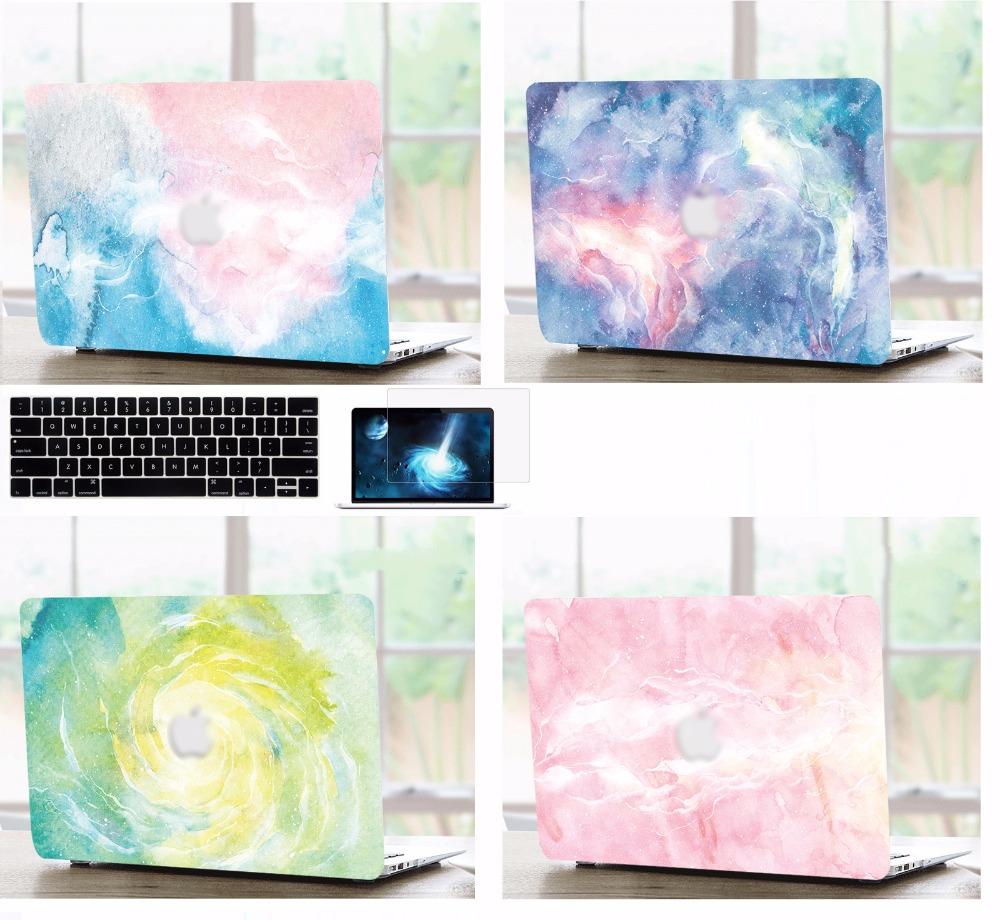 Laptop Shell Case Keyboard Cover Screen Film Protector For 11 12 13 15 quot inch Apple Macbook Air Pro Retina Touch Bar Release 2016 in Laptop Bags amp Cases from Computer amp Office