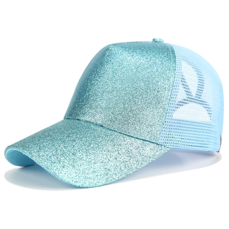 9791aa8c9d4 2018 CC Glitter Ponytail Baseball Cap Women Snapback Hat Summer Messy Bun  Mesh Hats Casual Adjustable Sport Caps-in Baseball Caps from Apparel  Accessories ...