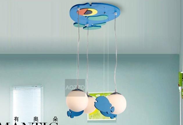FREE SHIPPING EMS Modern brief child lamps living room lights bedroom lamp cartoon pendant light lighting 80006(161)