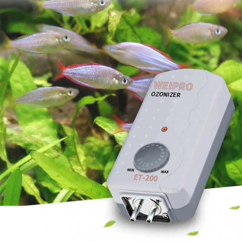 Ozoniseur de stérilisation d'ozone de réservoir de poissons de générateur d'ozone d'aquarium utilisé avec la pompe à Air ou l'écumeur de protéine pour le réservoir marin de réservoir de poissons
