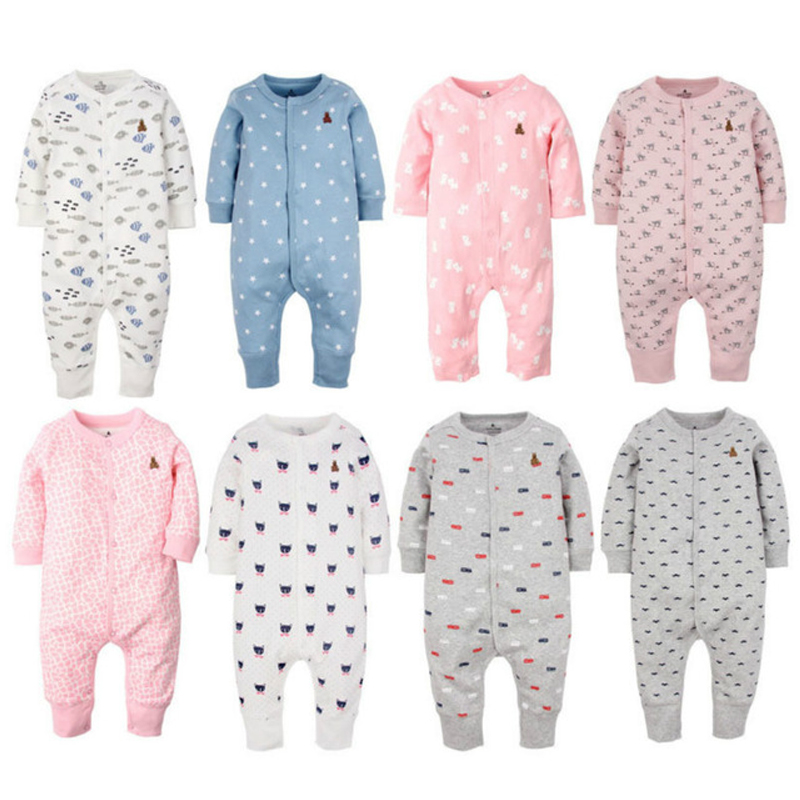 2017 Baby girl clothes long sleeve romper newborn overalls baby boys pajamas cotton bebes cartoon clothing one piece jumpsuit newborn baby boy winter rompers long sleeve cotton clothing toddler baby clothes romper warm cartoon jumpsuit baby boys pajamas