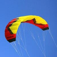 5Sqm трюк кайт Quad Line Parafoil тяги Кайт с кайт Летающая линия управления бар для начинающих взрослых