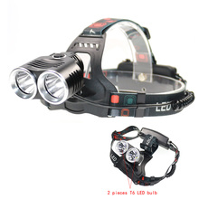 Quality XML-T6 Super Bright Headlight Aluminum Alloy Waterproof Glare Head Lamp Hunting Camping Head Torch LED Bicycle Lights