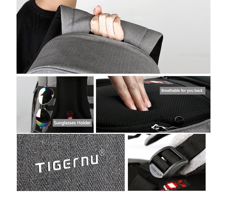 Details van de TB3213 Tigernu Antidiefstaltas
