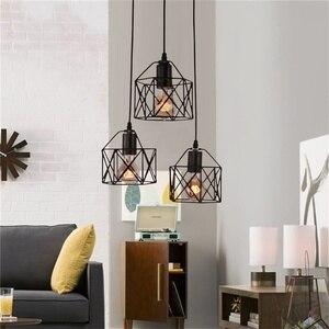 Image 2 - Lampes suspendues industrielles rustiques américaines cuisine île lampe café suspension luminaires modernes lampe minimaliste nordique