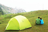Ultralight Double Layer 210T Fabric 3 Person Use High Quality Waterproof Windproof Camping Tent With Bottom