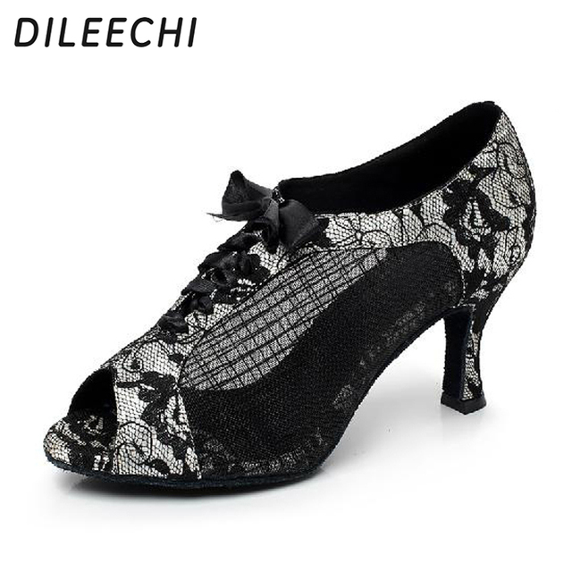 ad92eb137d12 DILEECHI brand Women s Latin dance shoes Ballroom dancing shoes ...