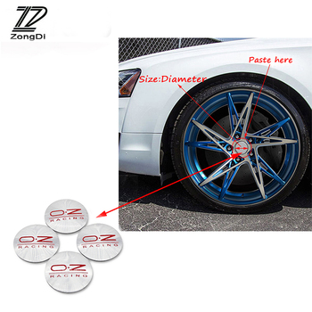 ZD 4X Car Styling O.Z Tire Wheel Center Hub Cap Cover Stickers For Skoda Octavia A5 A7 2 Fabia Yeti BMW E60 F30 X5 E53 Inifiniti image