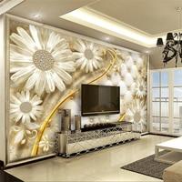 Beibehang Klienta zdjęcie naklejki ścienne kwiaty przejrzyste luksusowe biżuteria tle ściany papel de parede 3d para sala atacado