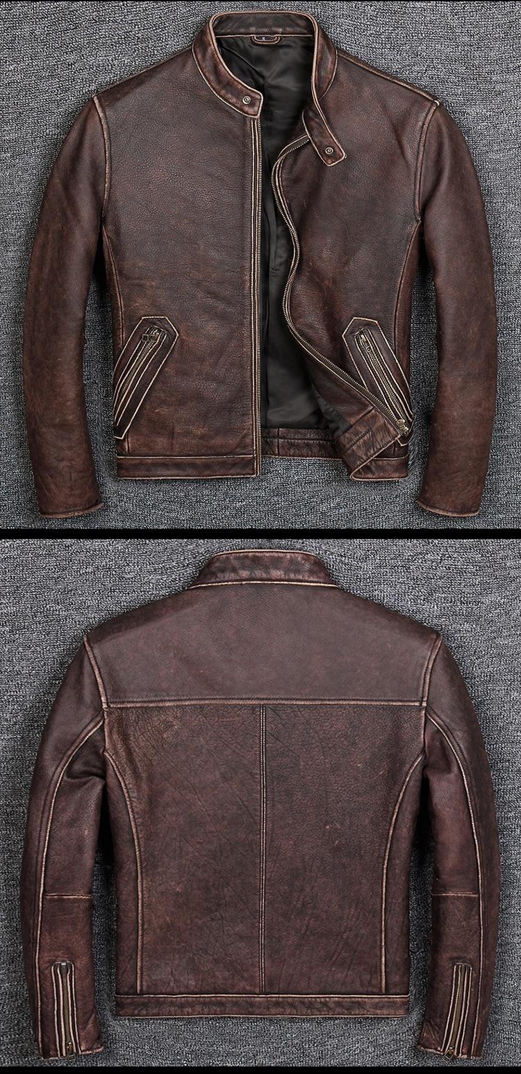 HTB1BzbbUhTpK1RjSZR0q6zEwXXaB Free shipping.Plus size Brand Classic style cowhide jacket,mens 100% genuine leather jackets,biker vintage quality coat.sales