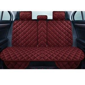 Image 4 - Universele Pluche Auto Seat Cover Winter Warm Faux Fur Auto Voorzijde Achterzijde Rugleuning Zitkussen Pad Interieur Accessoires Protector