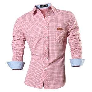 Image 5 - Jeansian primavera outono características camisas dos homens calças de brim casuais camisa nova chegada manga longa casual magro caber camisas masculinas 8615
