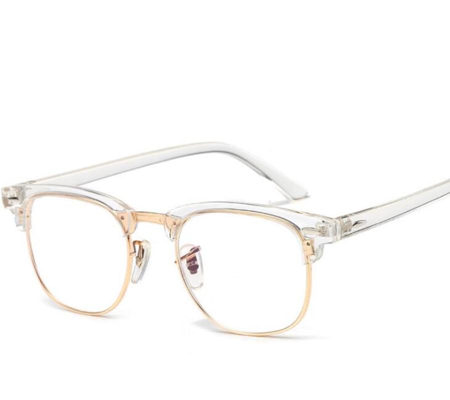 7ae2d1afafd71 جديد 100% ريترو نظارات إطار واضح شفاف البصرية النظارات الشحن المجاني