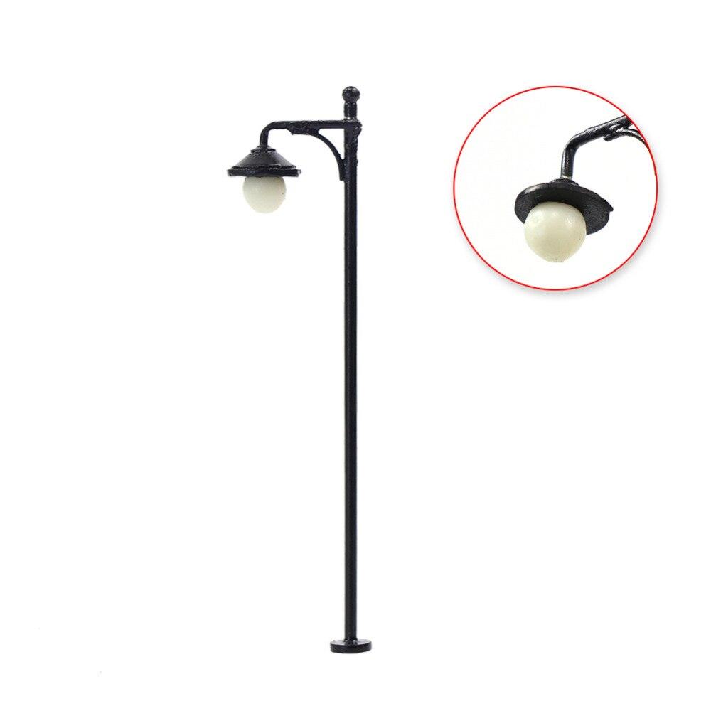Image 4 - LYM22 10pcs Model Railway Train Lamp Post Street Lights HO OO Scale LEDs NEW Building MiniatureModel Building Kits   -