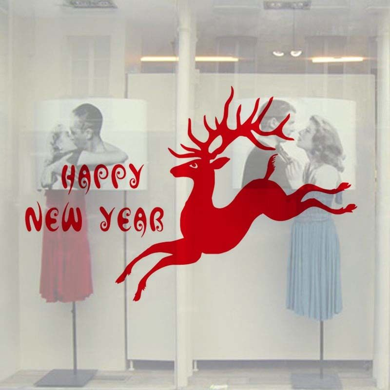 Citaten Kerst En Nieuwjaar : Milu herten gelukkig nieuwjaar citaat kerst decoratieve home
