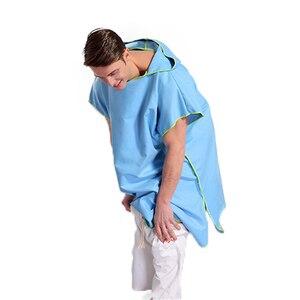 Image 4 - Zipsoft Poncho de microfibra con capucha para nadar, bata de secado rápido, Poncho para Surf en la playa, traje de neopreno ligero compacto con capucha