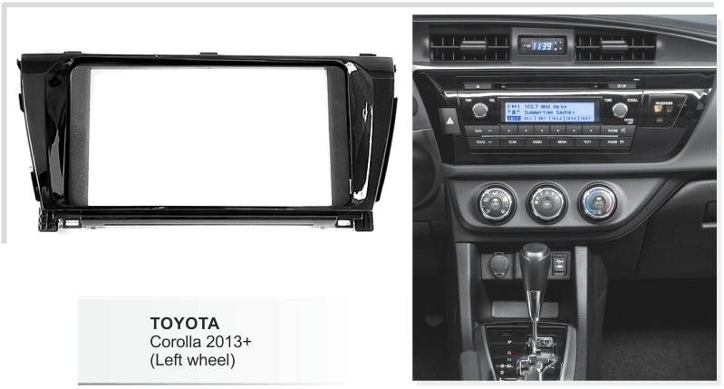 Автомобильный стерео радио установить комплект для Toyota венчик Альтис 2013+(левое колесо) DVD Facia аудио рамка накладка панели