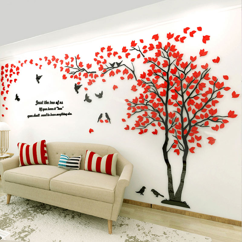 Home Decor Art Tree Wall Sticker Removable Mural Decal: Aliexpress.com : Buy Lovely Home Decor 3D Tree Wall Art
