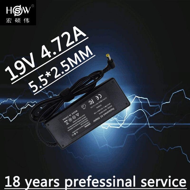 A HSW AC Power Adapter Carregador Portátil Para Toshiba C50 C55 C650 C655 C660 L100 C665 C850 C855 E100 E105 19V 4.74A 5.5X2.5mm