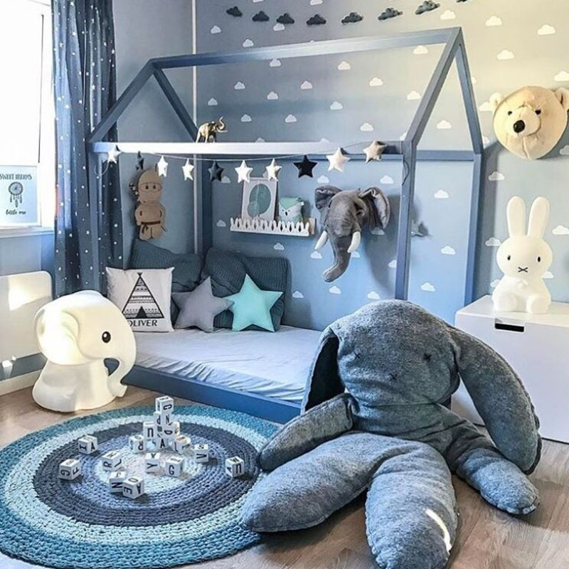 INS Hot Sale Super Big Gray Rabbit Pillow Baby Cushion Baby accompany sleeping toys Children baby