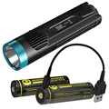 2019 NITECORE LIMITED EDITION EC4GT 2x Micro-USB Rechargeable Battery + Charge Cable Handy Portable 1000Lumen Emitter Flashlight