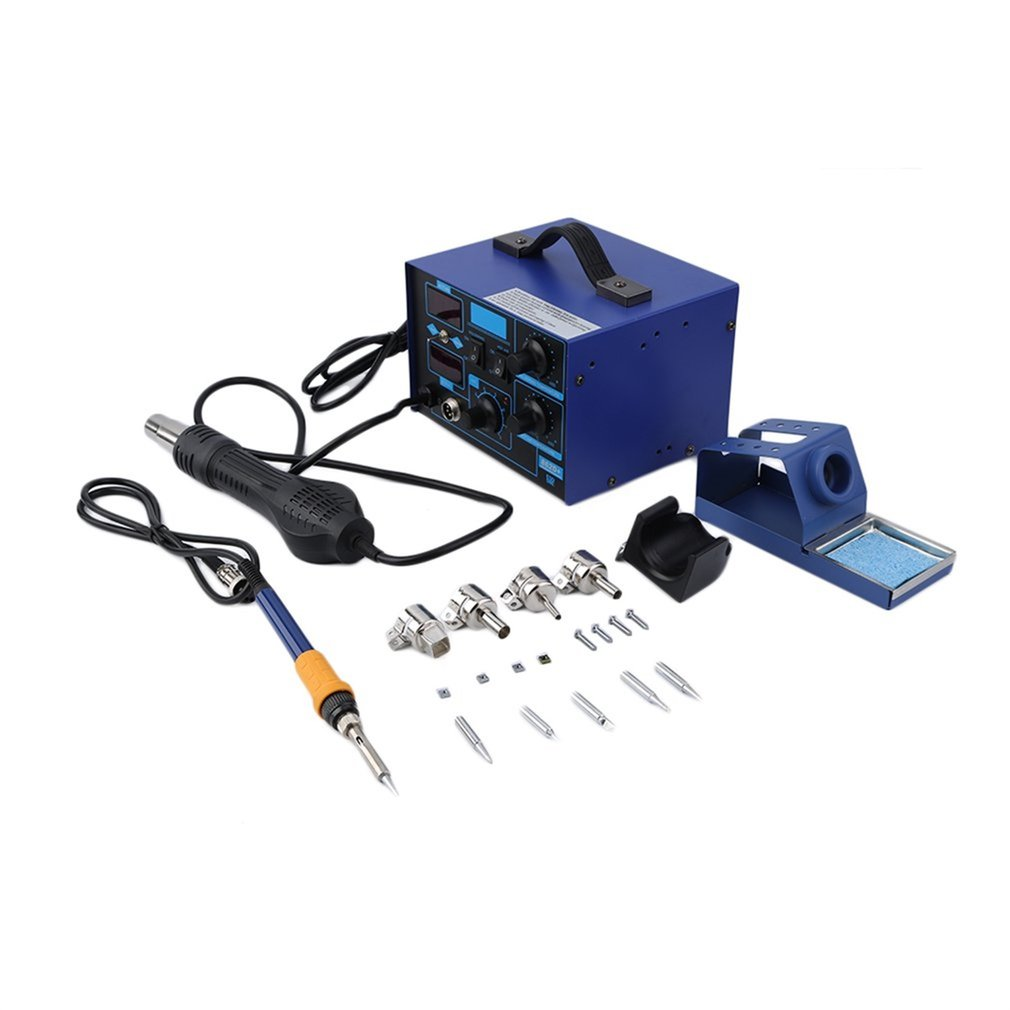 SMD 2in1 862D+ Soldering Iron Welder Hot Air Gun Rework Station and Accessories Very Low Noise and Space Saving DesignSMD 2in1 862D+ Soldering Iron Welder Hot Air Gun Rework Station and Accessories Very Low Noise and Space Saving Design