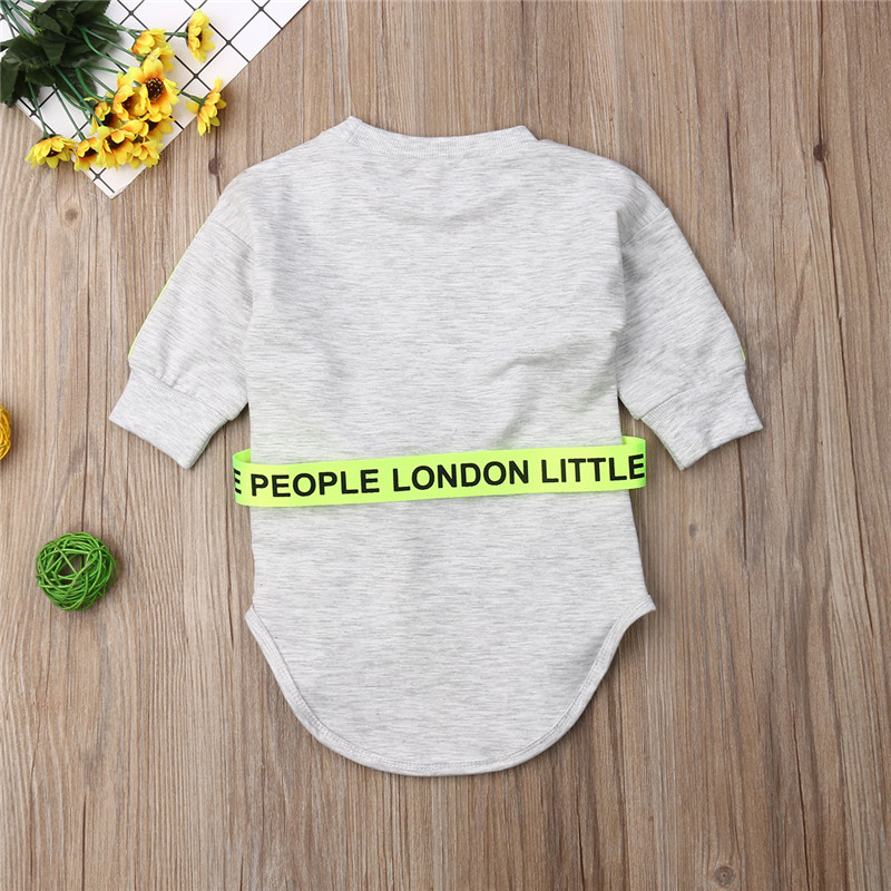 Children Dresses Toddler Kid Baby Girl Clothes Long Sleeve Gray Dress Pullover Dresses Autumn Spring Cute Casual Dress