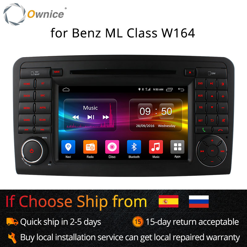 Ownice C500 Android 6.0 Octa Núcleo 32G ROM DVD Player Do Carro GPS Para Mercedes CLASSE GL ML W164 X164 ML350 ML450 GL320 GL450 4G LTE