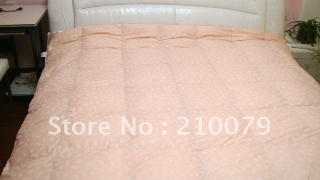 King size 2.2x2.4m light pink 4kgs DHL Free shipping! Family homemade Down comforters with 90% White Duck Down Filling