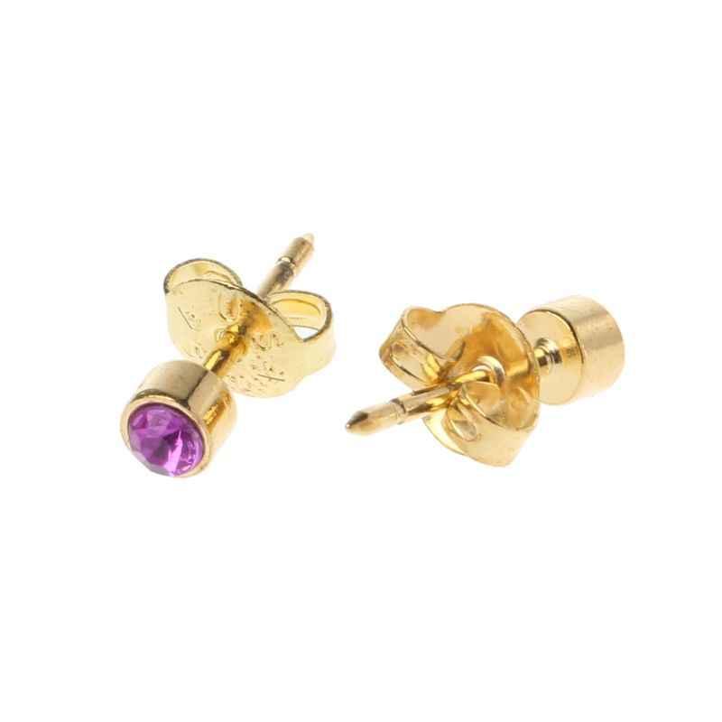 12 par złote kolczyki do uszu piercing kolczyki zestaw hipoalergiczny Mini 3mm CZ biżuteria z ćwiekami