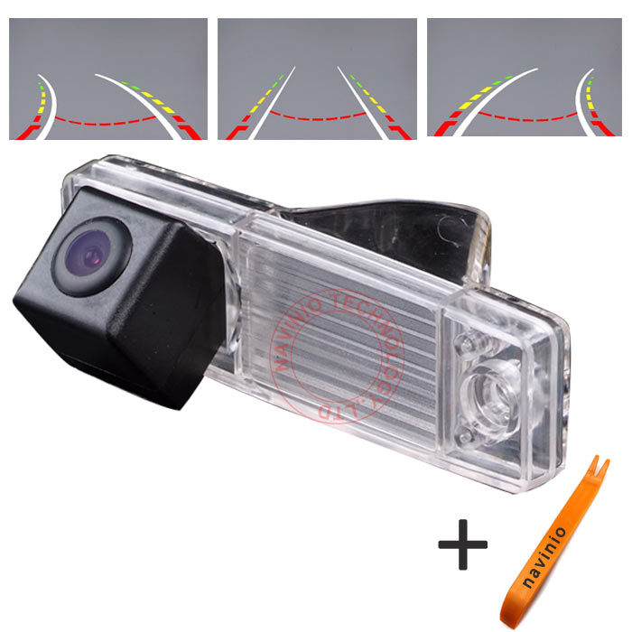 CCD car track Camera Integrative Dynamic Path waterproof Backup Rear View Reverse Parking for Toyota Highlander Kluger RX300 Car ccd car reverse camera for ssangyong rexton kyron backup rear review reversing parking kit waterproof nightvision free shipping