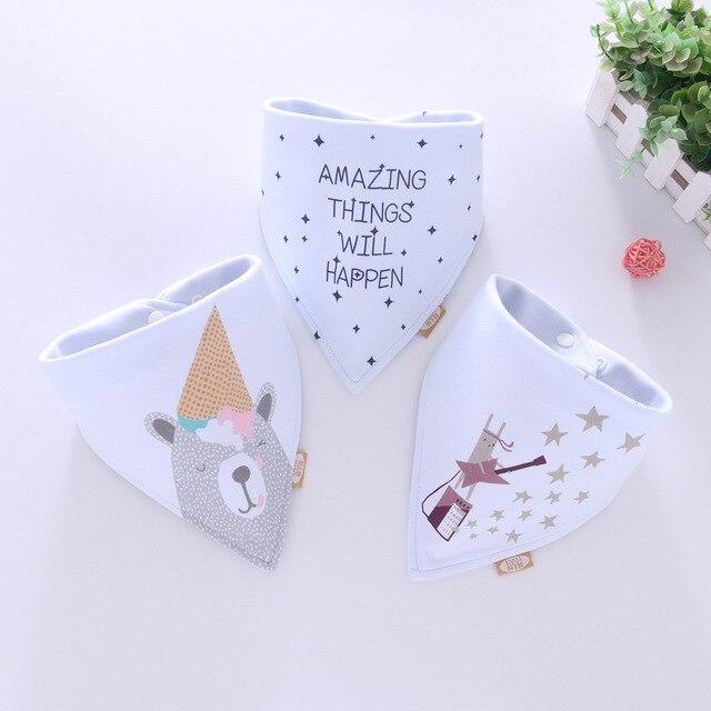 Bandana de algodón Babador de bebé babero de alimentación ropa de eructos de bebé de dibujos animados Toalla de Saliva accesorios para comer de bebé suave