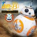 Star Wars 7 PVC RC BB-8 Robot de Star Wars 2.4G remoto control BB8 robot inteligente bola pequeña Figura de Acción Juguetes de Regalo de Navidad