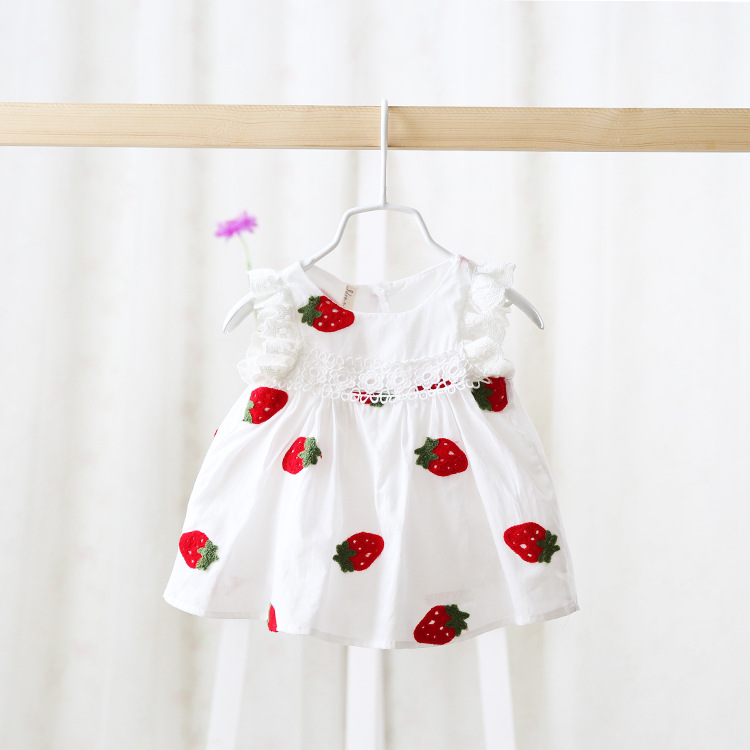 new 2016 Summer wholesale Girls princess dress of baby girls embroidered children clothes baby girl for newborn dress