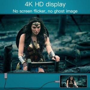 Image 5 - HOCO USB C HDMI תואם כבל סוג C כדי HDMI מתאם עבור Macbook סמסונג מקרן HDMI תואם כדי סוג C כבל
