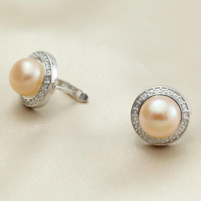 Vera perla d'acqua dolce orecchini donne, matrimonio naturale nero perla orecchini 925 sterling silver jewelry ragazza migliore regalo bianco