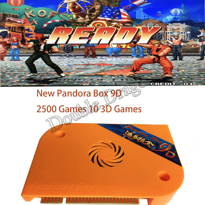 New Pandora Box 9D 2500 in 1 Arcade Version Jamma Game Board 10 3D Games for