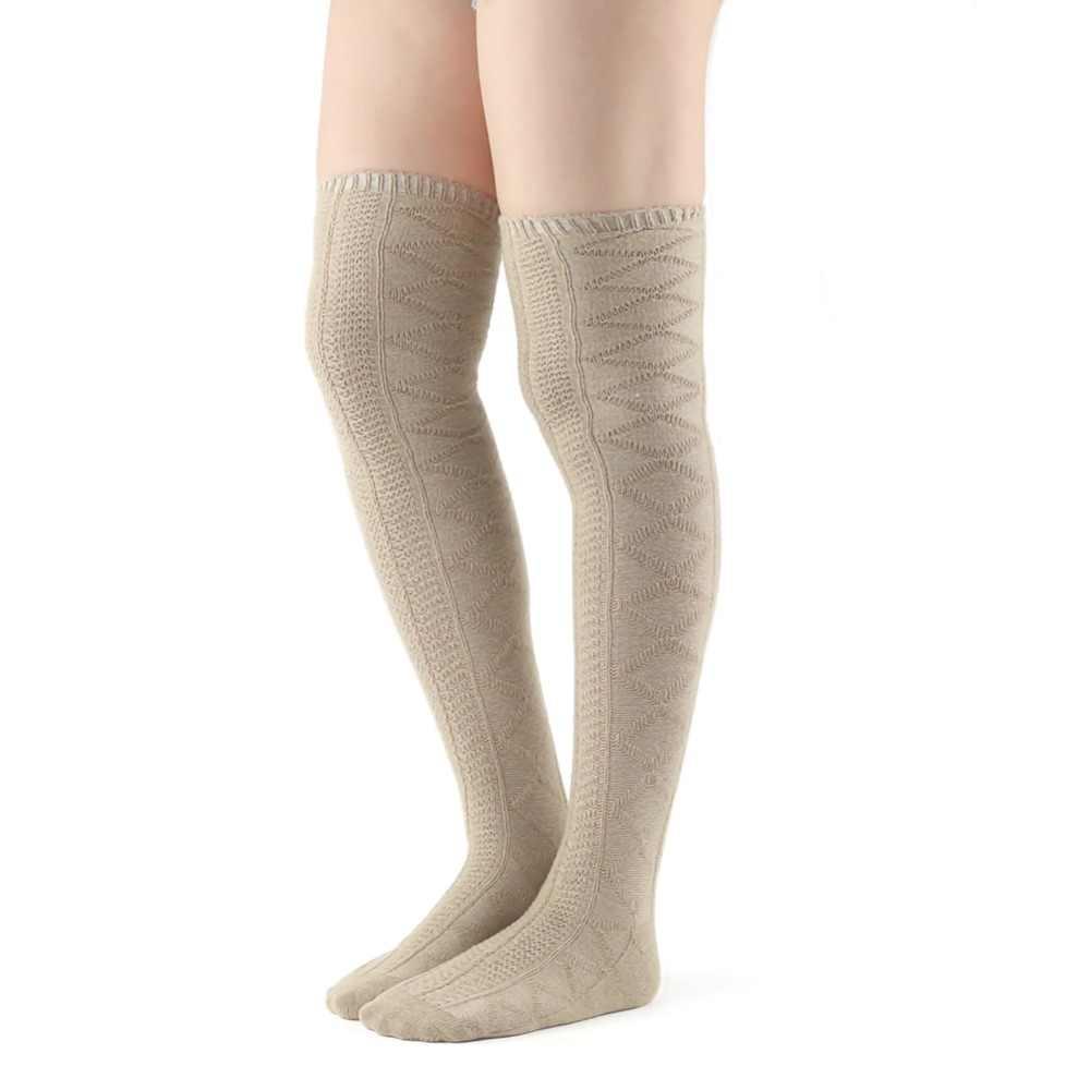 96f1e0c28 ... Women Stockings Compression Fashion Brand Coolmax Fall Winter Warm  Thick Hosiery Female High Knee Boot Long ...