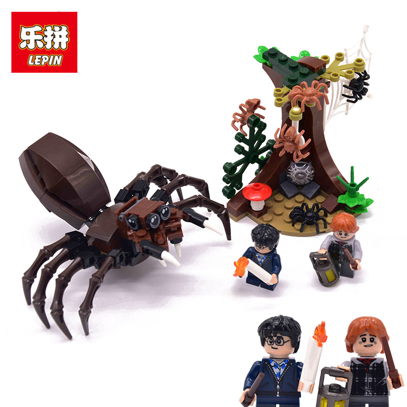 LEPIN 16058 Aragog's Lair Harri Potter Hogwarts Castle Figures Building Blocks Bricks legoing Christmas Toys for children 75950 extra mineral неароматизированная натуральная соль мертвого моря для ванн 500 мл