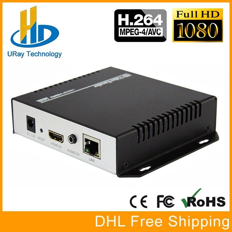 URay MPEG4 H 264 HDMI + MIC To IP Live Streaming Video Encoder H.264 RTMP Encoder HDMI Encoder IPTV H264 With HLS HTTP RTSP UDP