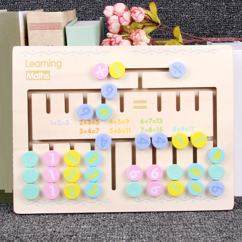Montessori Toys Baby Early Learn Calculation Math Toy ...