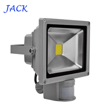 IP65 Waterproof 10W 20W 30W 50W Led Floodlight Outdoor lighting Project Lamp LED Flood light 85-265V PIR Motion detective Sensor