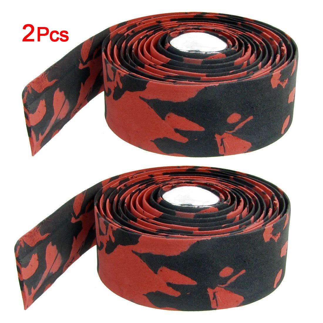 Road Race Bike Bicycle Cycling Handlebar Black Tape Ribbon Wraps with 2 Plugs