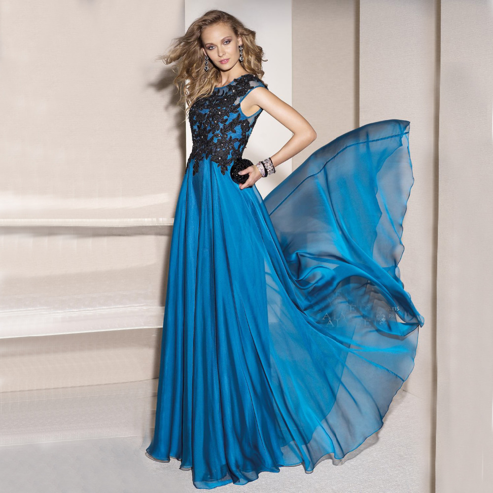 Black and turquoise prom dress - Best Dressed