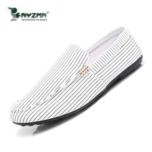 2019 Spring And Summer New Peas Shoes A Pedal Canvas Casual Fashion Breathable Lazy Shoes Men's Vulcanized Shoes the new lazy shoes a pedal female student harajuku style plaid canvas shoes
