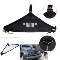 1PC Black Car Front Hood Cover Shell End Bra Protector Fit For 2007 2017 Jeep Wrangler JK //